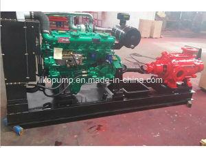 Motor Diesel de alto flujo marino centrífugas bomba con la caja de engranajes