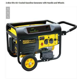 generatore raffreddato ad aria della benzina di 2.6kw Ohv con la maniglia e le rotelle