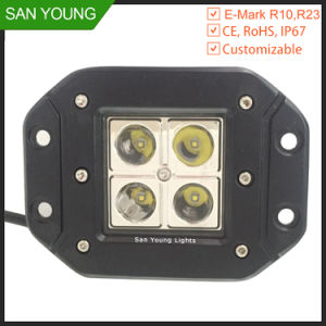 E-MARKのRoad Trucks Drivingを離れた4inch 16W Square Cube Pods LED Work Light