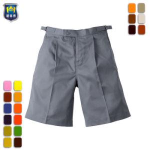 6306165de626e El algodón gris uniforme escolar inteligente diseño de pantalones cortos  para niños