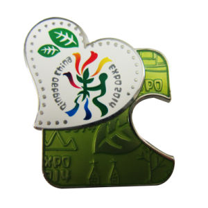 工場価格の高品質の真鍮のカスタム金属の記念品の博覧会のバッジの折りえりPin (059)