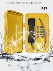 Постоянного тока на базе промышленных вещания телефон, громкая связь Телефон для тяжелого режима работы с 35W звуковой сигнал