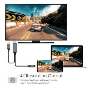 MacBookのためのHDMI HDTVのアダプターケーブルへのUSB-CのタイプCかアンドロイドまたはSamsung/LG/Huawei