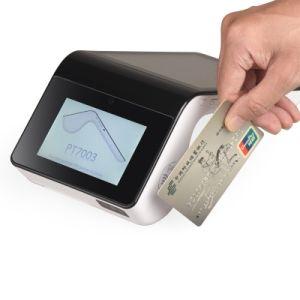 Beweglicher Positions-beweglicher Thermodrucker-Scanner-und Scheckkarte-am Endeleser mit Bank Positions-System PT7003