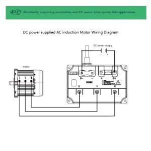 Motor de inducción AC 10kw3000r.p.m.144V con fuente de alimentación CC