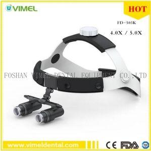 bca70dad6d 4.0X 5.0X Bandeau loupes binoculaires de chirurgie dentaire lunettes loupe  de la lentille