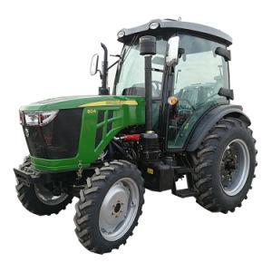 55HP 60HP 70HP 80HP 90a agricultura de Tratores Agrícolas com rodas HP com marcação de uma cabina/C