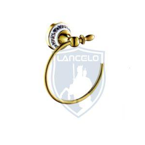 La conception européenne Golden céramique Salle de bains accessoires 6PC défini