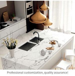 005 Pierre Quartz Counter Tops armoire de cuisine design moderne personnalisé Laquer acrylique finitions haut de la mélamine