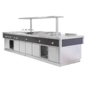 Centre en acier inoxydable pour l'Île Île/ cuisine cuisine commerciale