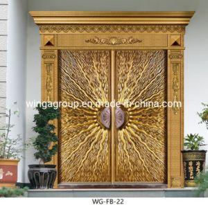 Placa de aluminio fundido de color dorado de la puerta de Cooper Wg-Fb-22