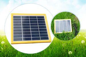6V 9V 12V 3W amarillo de plástico de bastidor de un panel Solar PV para el módulo de iluminación LED con aprobación TÜV