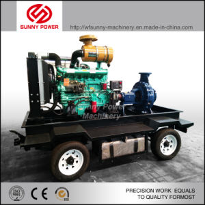Diesel de 6 pulgadas de la bomba de agua para riego/Proyecto Municipal con Four-Wheel tráiler