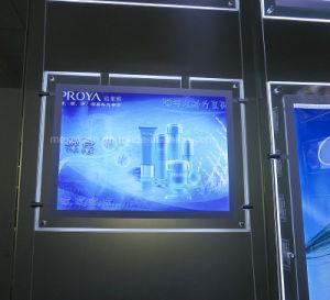 Telaio in acrilico retroilluminato a LED con cornici a coda variabile