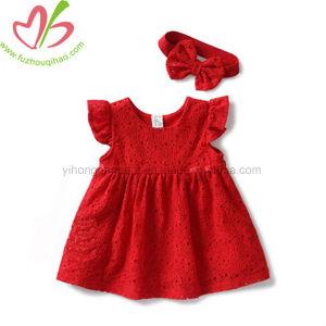 Robe rouge pour jeune fille