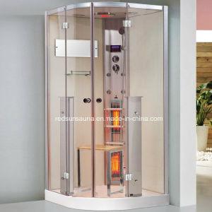 Sala de ducha de infrarrojos, ducha con sauna de vapor (K063)