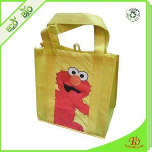 昇進の強いハンドルが付いているロゴによって印刷されるショッピング非編まれた袋