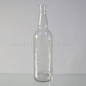 [750مل] صافية أبيض عال واضحة زجاجيّة شراب زجاجة