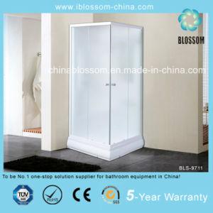 Triángulo puerta corredera de cristal mate/cabina ducha completa (BLS-9711)