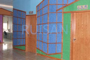 Mur de tuile de plafond et panneau de plafond décoratifs acoustiques (61)