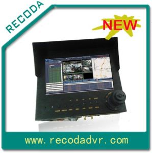Perfecte 3G DVR, Monitor, Vehicle PTZ Camera, Keypad alle-in-One
