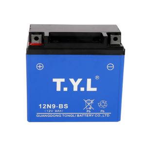 Gn125 12V9ah de plomo ácido de batería motocicleta azul
