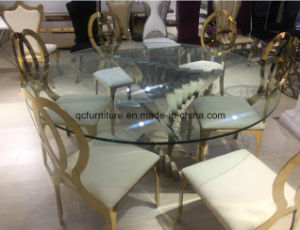 Mesa de comedor redonda moderna base de acero inoxidable – Mesa de ...