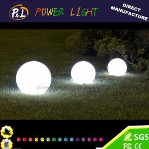 Decoración de jardín iluminado brillante esfera de luz LED de plástico