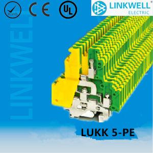 Distribuição Eléctrica Bloco do Terminal de Aterramento de PE com contatos de cobre (LUKK5-PE)