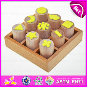 2015 nuovo Style Novelty Wooden Seal Toys, Wooden Stamps Toys Clothing Seal, DIY Wooden Seal Gifts Toy per School Children W01A074