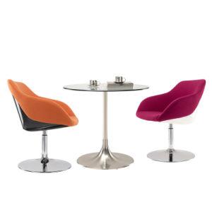 アルミニウムベースが付いている装飾された回転式オフィスの会議の椅子