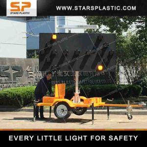 A energia solar LED piscando Placas de seta para a Segurança Rodoviária