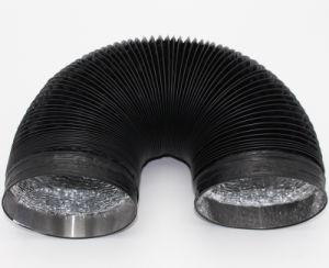 Вытяжной вентилятор самоклеящаяся виниловая пленка ПВХ вентиляционный шланг 4 дюйма-60 дюйма Черная ПВХ гибкий шланг трубопровода для ванной комнаты
