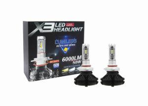 X3 LEDのヘッドライトLED車は9012自動LEDランプ自動LEDの球根50W 6000lm LEDの照明をつける