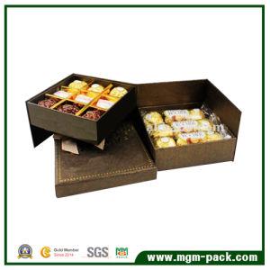 Het speciale Verpakkende Vakje van de Chocolade van het Document van de Koffie van het Ontwerp met 2 Lagen