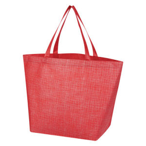 Non-Woven Crosshatched Bolso