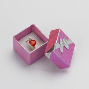Vakje 4X4X3cm van de ring de Gemengde Vakjes van de Gift van de Trouwring van de Kleur voor de Verpakking van het Document van de Houder van de Oorring van de Organisator van Juwelen