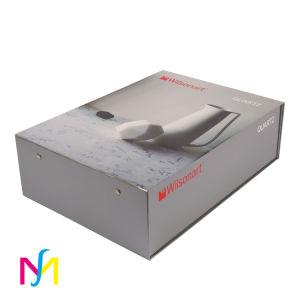 Custom складных картонных косметический бумаги подарочной упаковки коробки с лентой