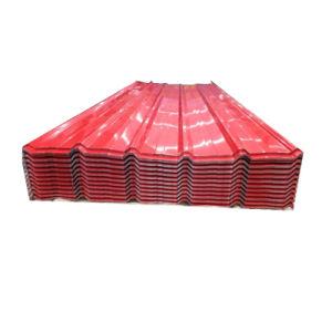 Tôle de toit ondulé galvanisé colorés PPGI panneau de toit