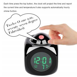 De Klok van de Projectie van het Idee van de gift met Alarm dut Temperatuur voor Slaapkamer, Plafond