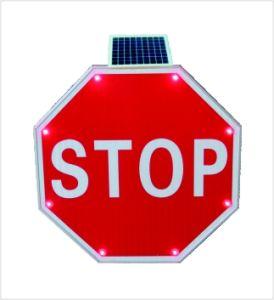 Segnale di pericolo LED di traffico solare della lega di alluminio di sicurezza carreggiata/della strada