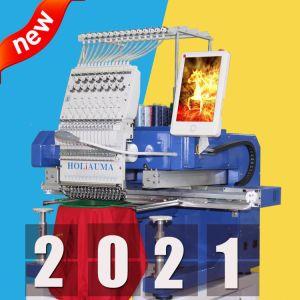 20 лет! ! ! Holiauma 1 головки блока цилиндров 15 иголки кофта швейная вышивальная машина с плоской платформой лучше чем Barudan Второй Стороны Tajima для продажи