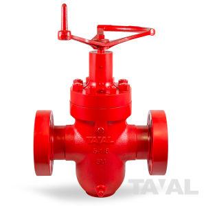 ASTM 4130 5-1/8 дюйма 5000 фунтов на расширение запорным клапаном с помощью штока Non-Rising фланцевый конец и маховик