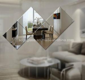 La forme d'aluminium poli de sécurité Types/Silver miroir miroir décoratif pour la salle de séjour
