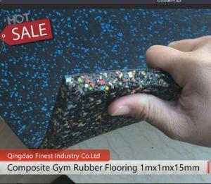 China Mayorista de fábrica de mosaicos de alfombra de goma de gimnasio, gimnasio piso alfombra de goma, Caucho Gym Mat suelo mosaico para gimnasio