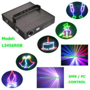 Цветной лазерный свет анимации 3W RGB