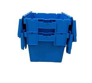 Stapelbare Plastikumsatz-Rahmen der Jungfrau-pp. mit Kappe