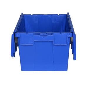 Contenitore allegato contenitore accatastabile di Tote del coperchio del nido di immagazzinamento in la gabbia di plastica del magazzino