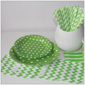 Rouge Jaune Vert écologique DOT les assiettes de papier pour le parti