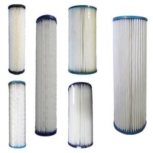Les sédiments de la cartouche de filtre à eau plissé